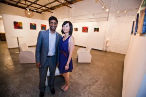 Sunny and Brenda Mangalore - Overwinter in Colour exhibition opening night